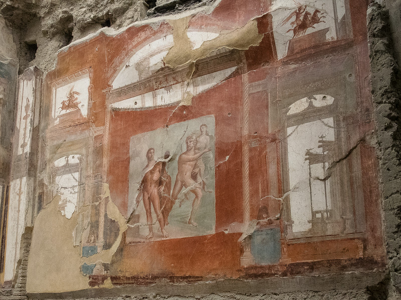 Fresco of Hercules with Achelos and Deianera - Basilica