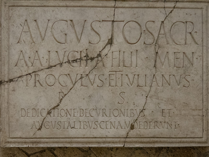 Plaque in the Basilica or College of the Augustales