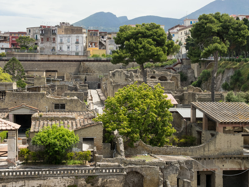 Herculaneum with the Medieval town above