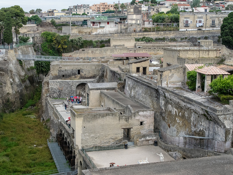 Grassy area was the seashore of Herculaneum