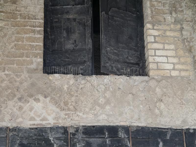 Charred shutters