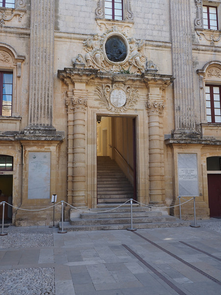 Facade of the Duke's Palace - Mdina, Malta