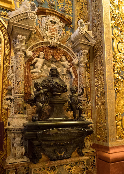 Tomb of the Grand Master Gregorius Carafa 1688 Chapel of Italy