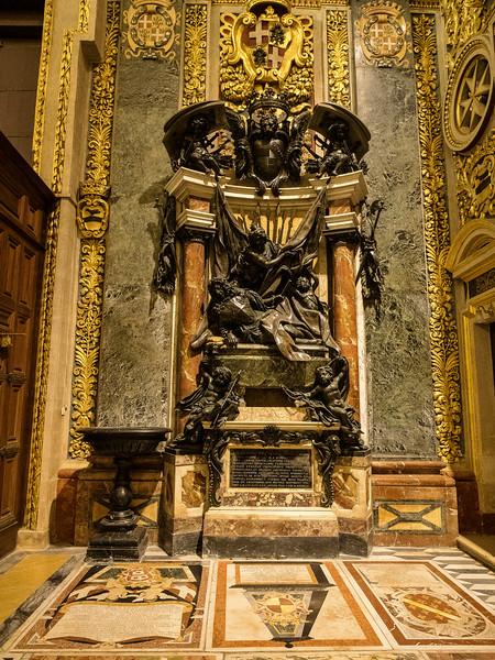 Tomb of Grand Master Marc Antonio Zondadari Nave 63 rd. Grand Master