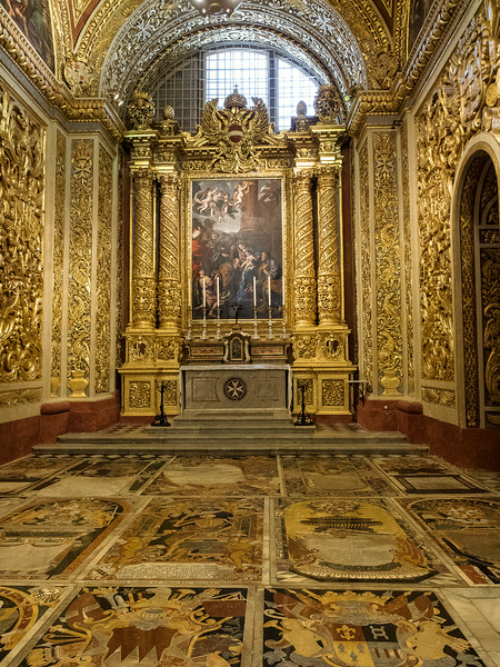 Chapel of the Langue of Italy - Altar painting the Adoration of the Shepherds