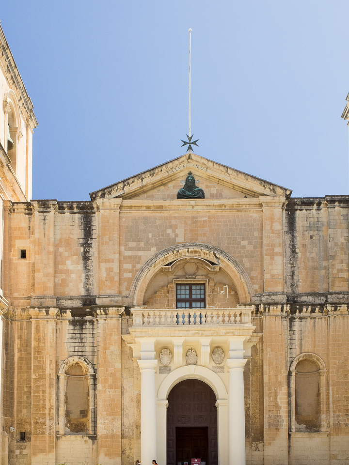 Side entrance to St. John's Co-Cathedral - Church of the Knights of St. John Hospitalers ofAcre, Rhodes and Malta - Valletta, Malta 1578