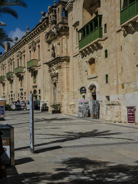 Street scene Valletta Malta