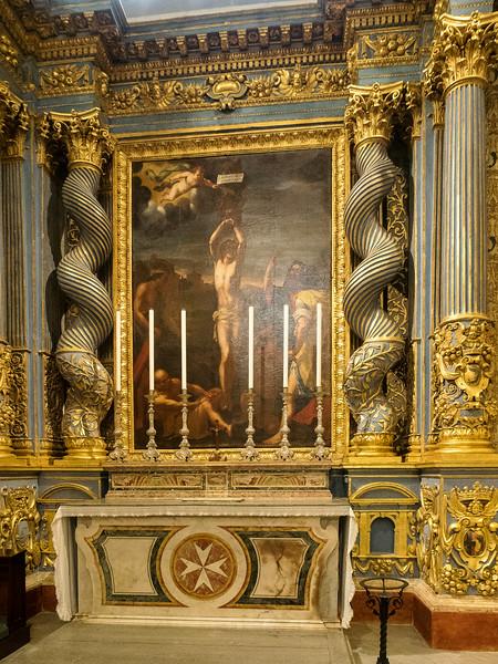 Chapel of the Langue of Auvergne -Painting of St. Sebastian Lucas Garnier 17th. Century