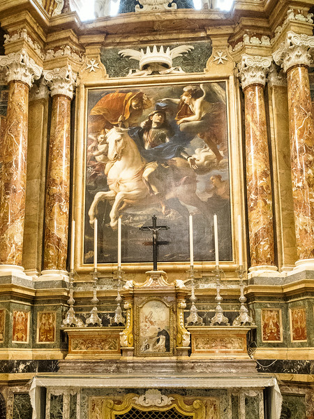 Chapel of the Langue of Aragon St. George on Horseback by Mattia Preti 1659
