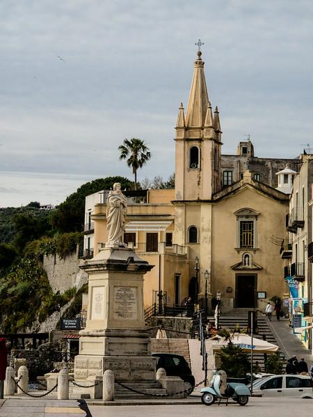 Lipari Church of Anime del Purgatorio (Souls in Purgatory) note the Vespa