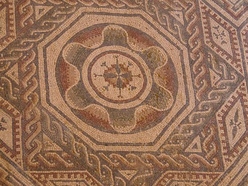 Geometric mosaic floor