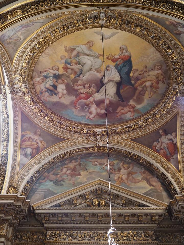 Santa Maria Sopre Minerva Christ and Mary crowning a Saint Catherine of Siena