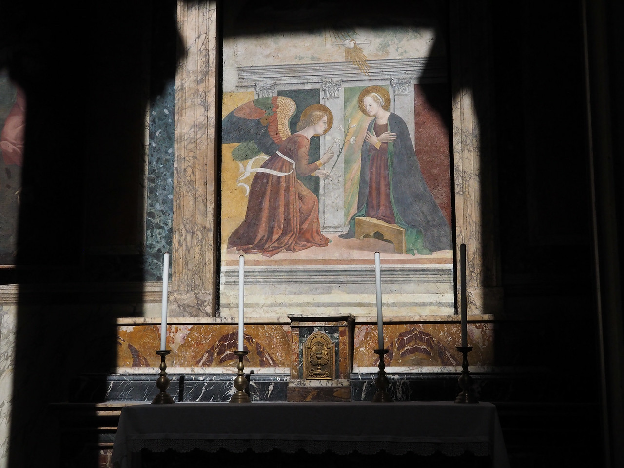 Annunciation from the Pantheon - Roman temple to all of the gods now a church