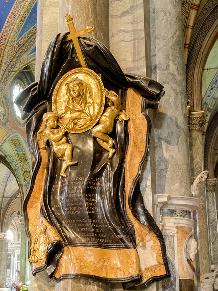 Santa Maria Sopra Minerva - Memorial to Maria Raggi 1643 by Bernini