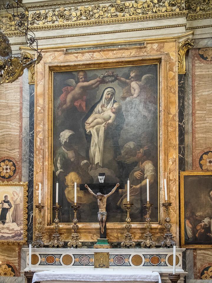 Santa Maria Sopra Minerva - St. Rose of Lima holding the Christ Child