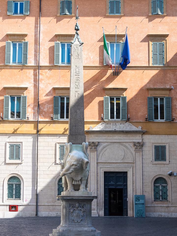 Bernini Elephant supporting an Egyptian obelisk