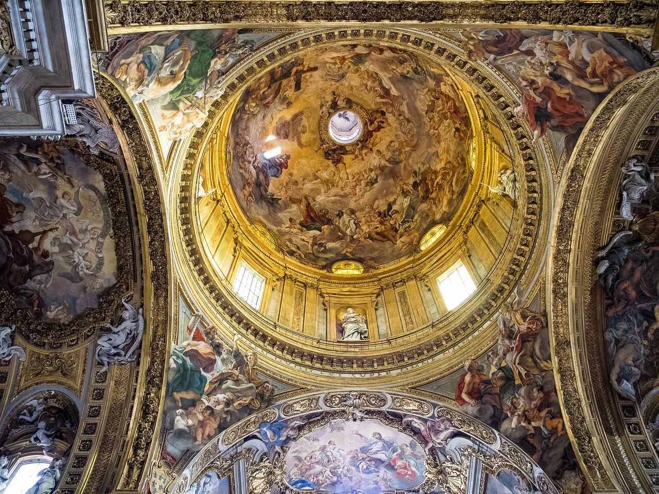 """Il Gesu dome """"Triumph of the Name of Jesus""""'. by Baciccia"""