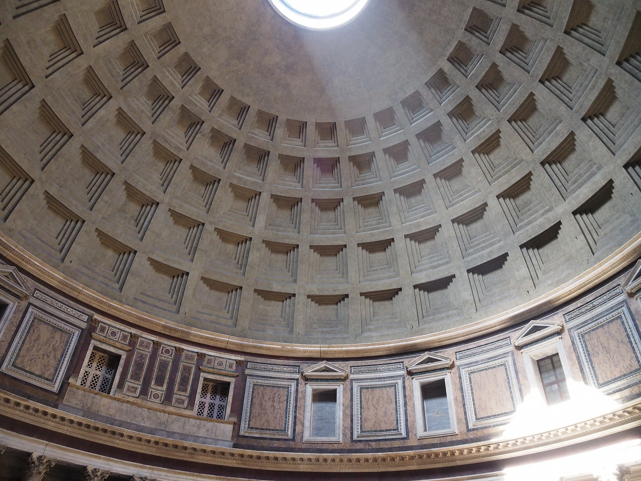 Pantheon - Interior Dome  Largest masonry dome in the world until St. Peter's Cathedral
