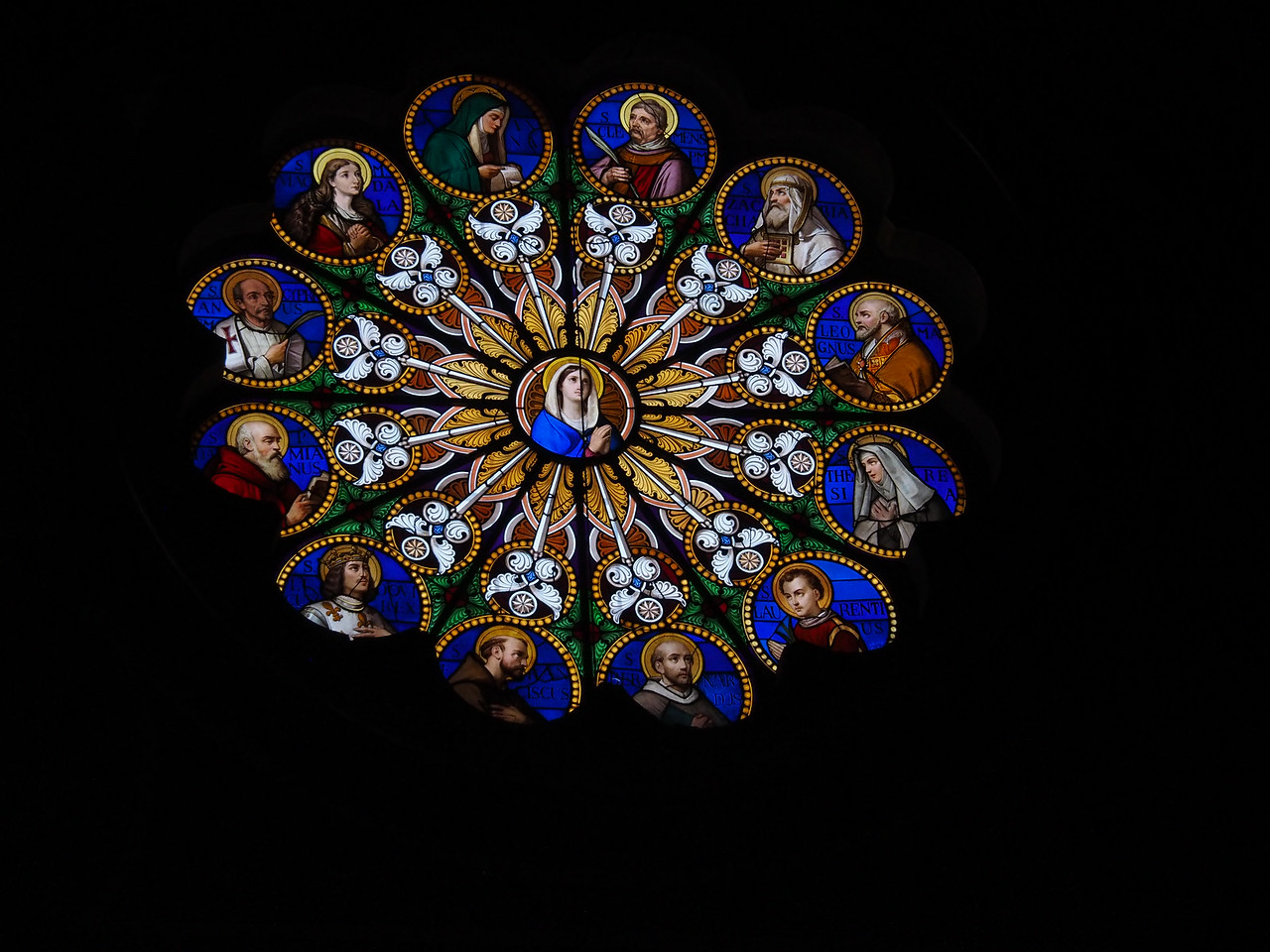Stained Glass Santa Maria Sopra Minerva