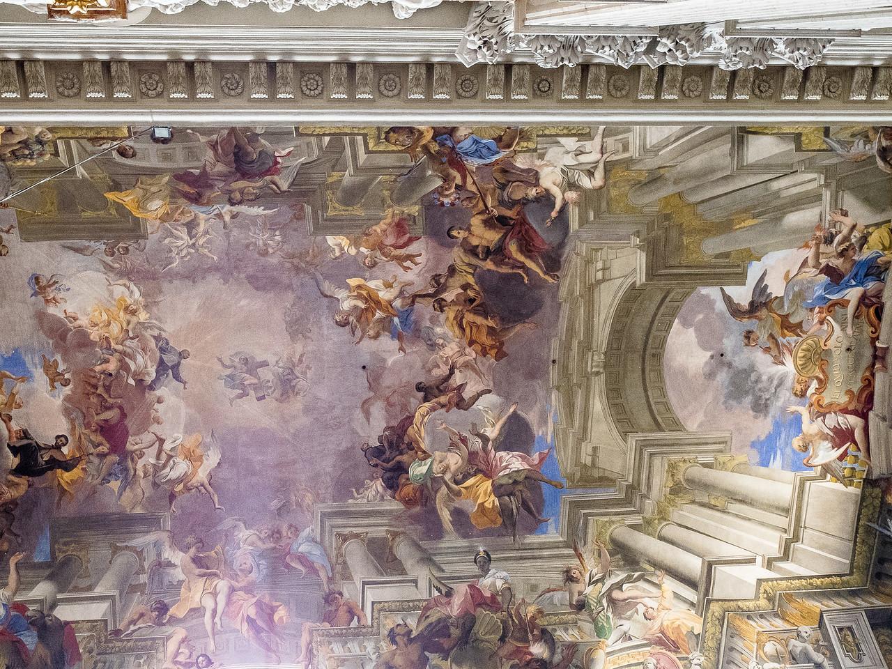 "Vault  "" The Entrance of St. Ignazio - St. Ignatius - into Heaven"""