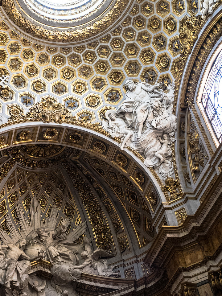 San Luigi complex carving and decoration over the altar
