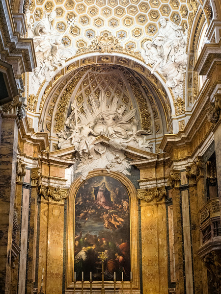 San Luigi - The Assumption of the Virgin, overseen by the Trinity and the Angels