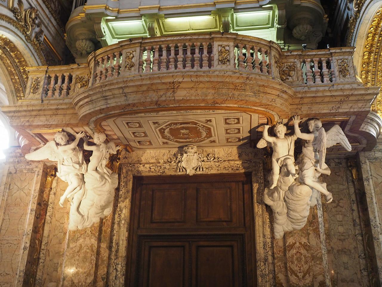 San Luigi -Organ Loft supported by Angels