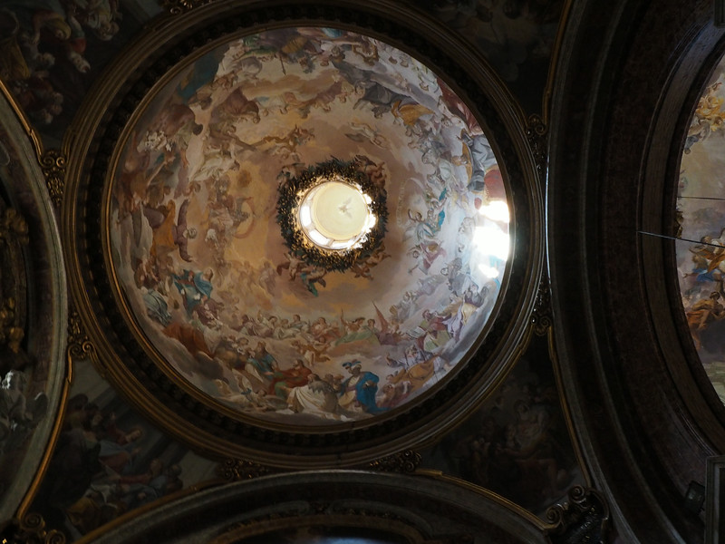 Church of Sant' Ignazio built 1626 -1685 False dome (actually flat canvas) by Andrea Pozzo Shows the Jesuit Missionary work on the Four Continents