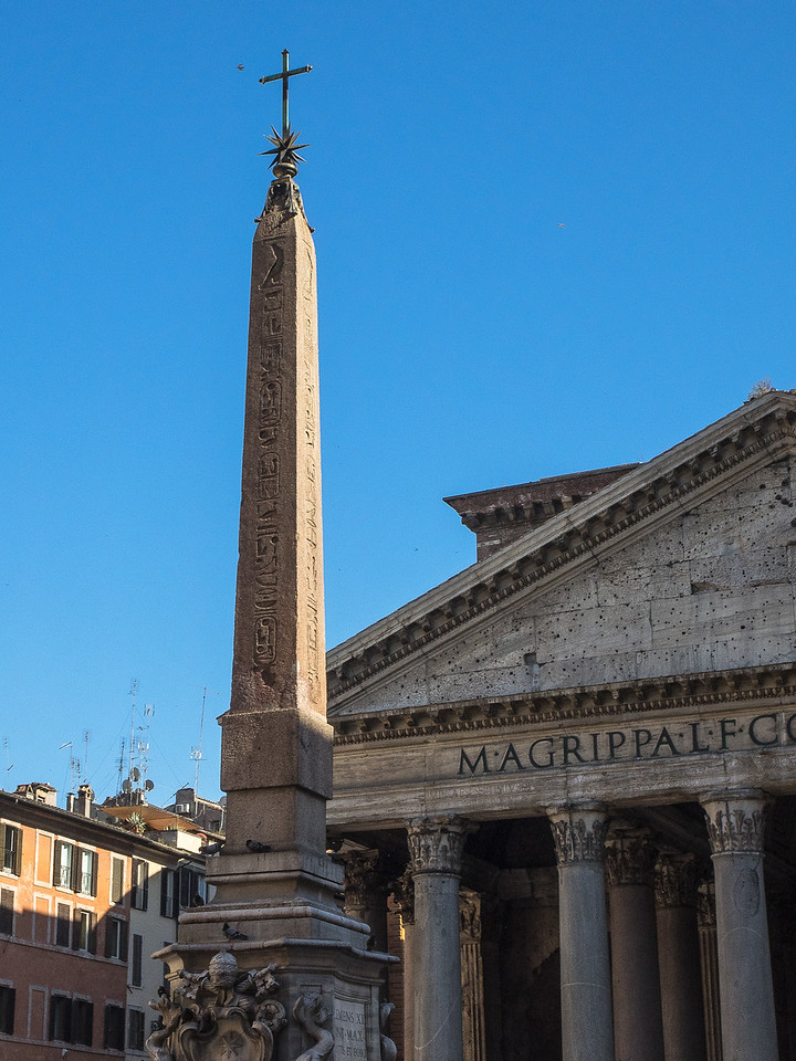 Pantheon and Fountain with Egyptian obelisk