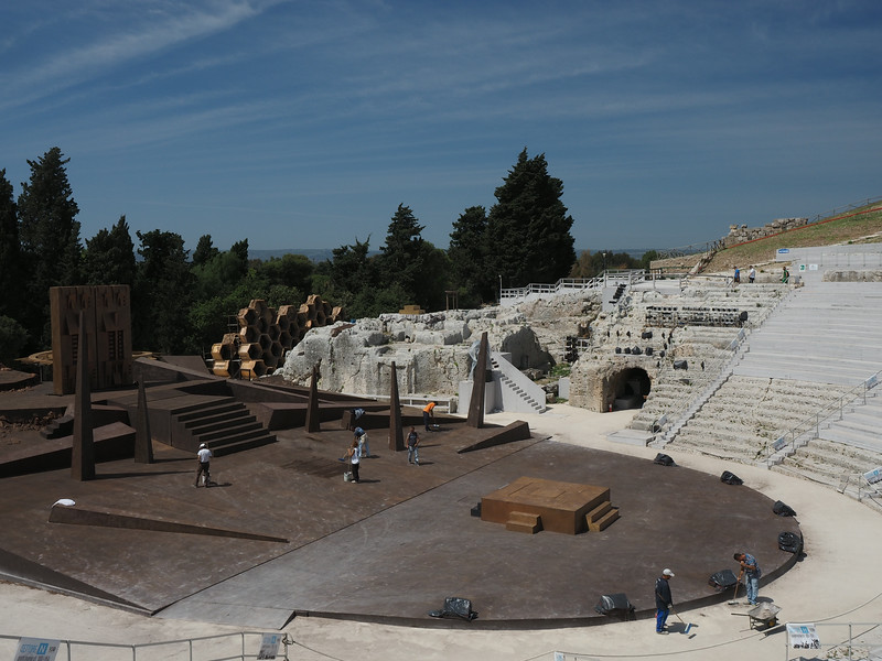 Theater Siracusa Sicily - Original theater 540 BC current (shown) is from230 BC - Siracusa was the second largest Greek