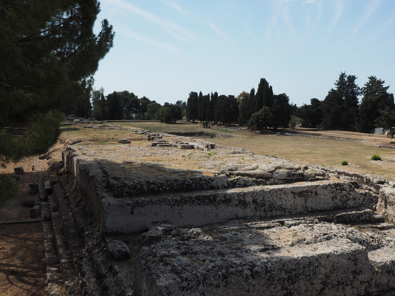 Siracusa, Sicily Altar of Hieron II where sacrifices were made before the perfomances  198 meters x 23 meters, largest altar known)