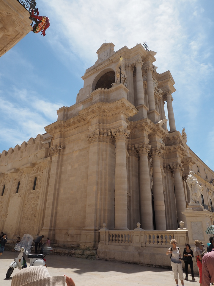 The Cathedral of Ortygia built within a temple of Venus - the original columns are in the wall to the left 1754