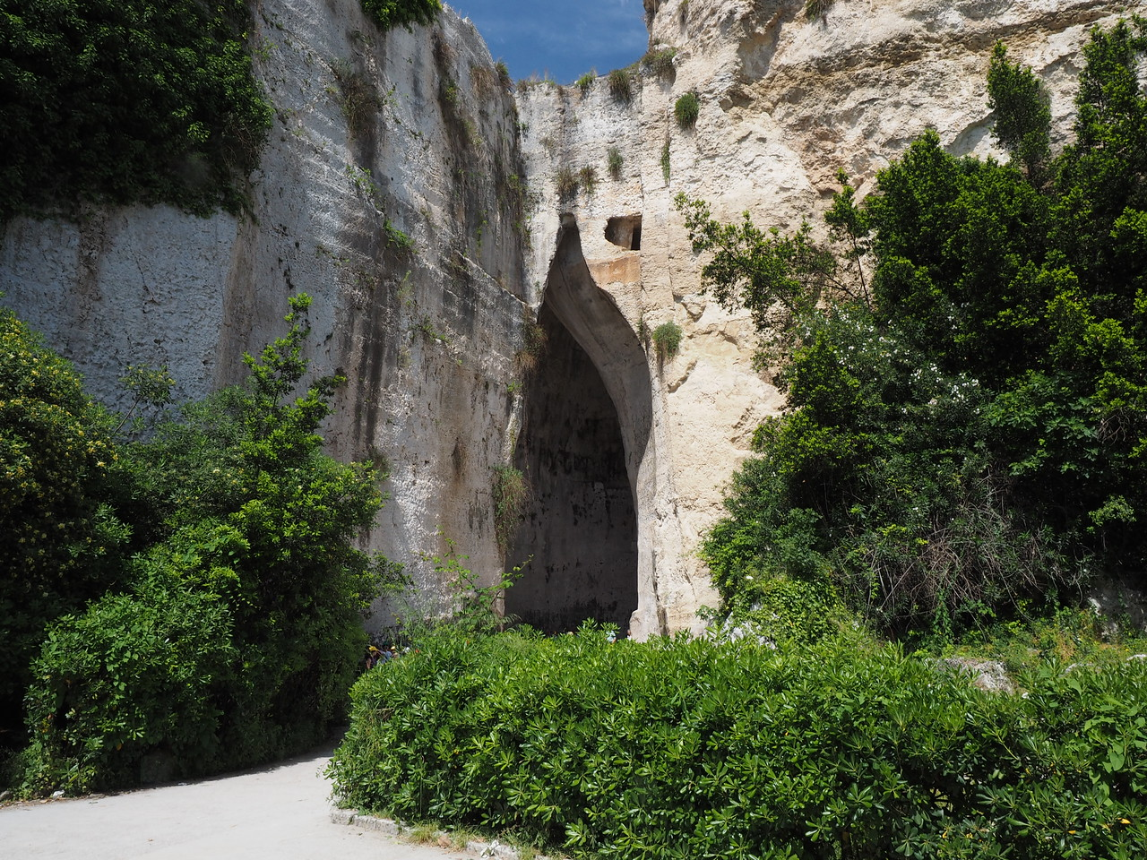 Entrance to a quarry used for the theater  Slaves worked and lived in the quarry