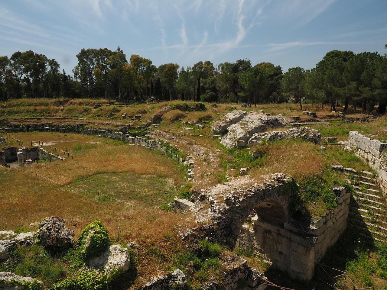 Amphitheater (double theater stadium shape) Siracusa