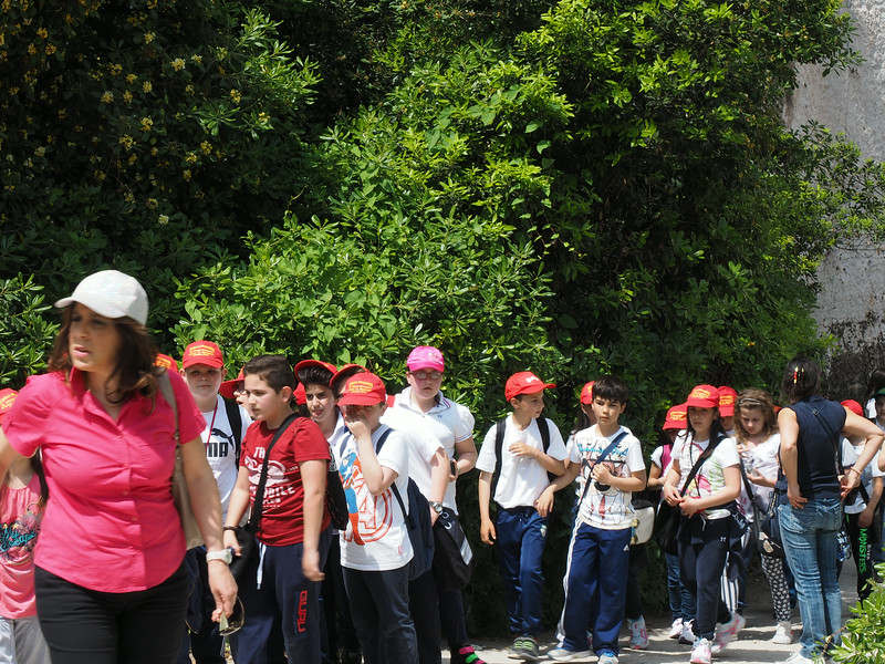 During the last week of School children visit historic sites in traditional dress