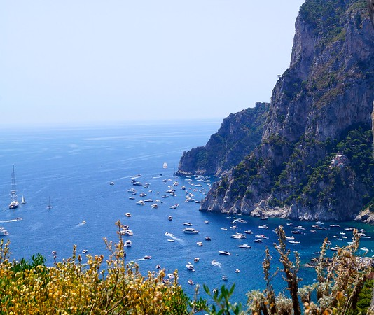 View from Botanical Gardens on Capri
