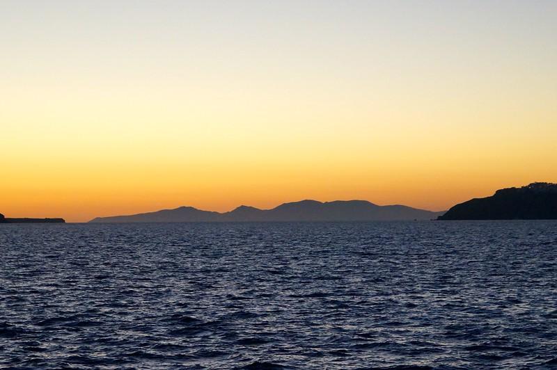 Sunset over the Caldera of Santorini
