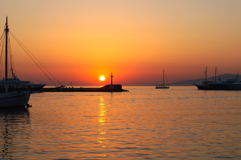 Sunset on Samos