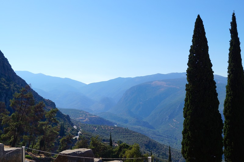 Views from Ancient Delphi, Greece