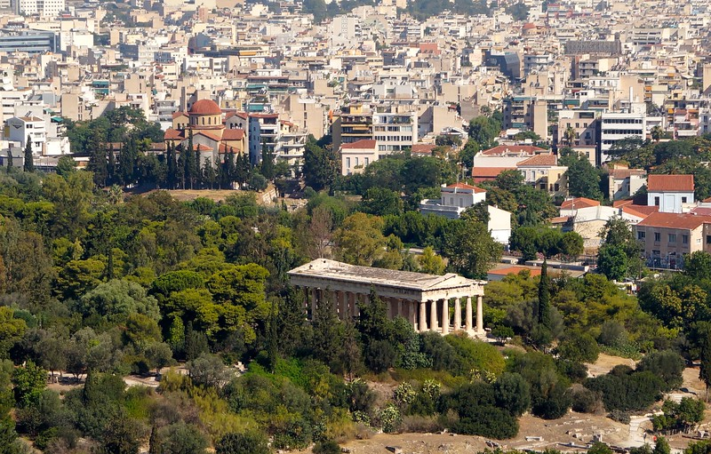 View of Temple of Agora from the Parthenon