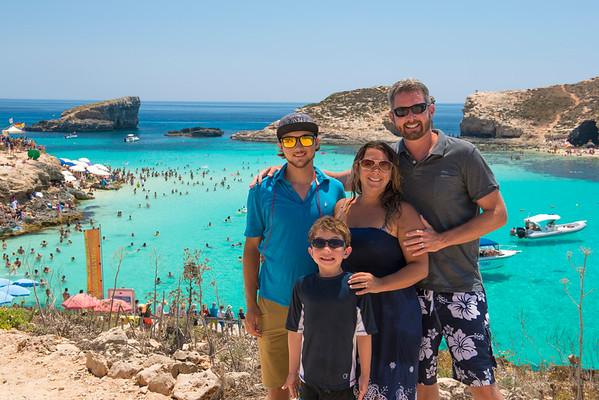 Family Picture at the Blue Lagoon, Comino, Malta