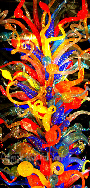 Dale Chihuly might be most famous for his colorful glass towers, this is one of several scattered throughout the gardens