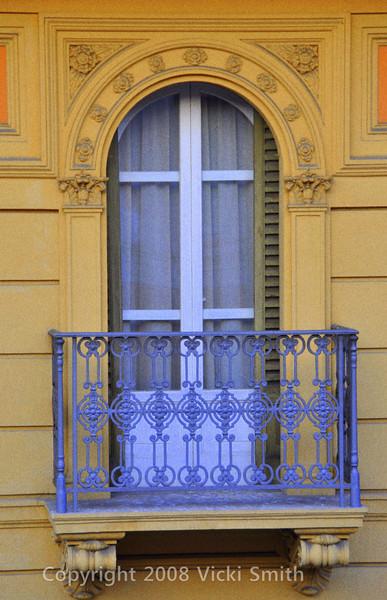 Bologna, Italy<br /> Church window, city center