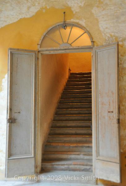 Dozza, Italy.  Castle courtyard