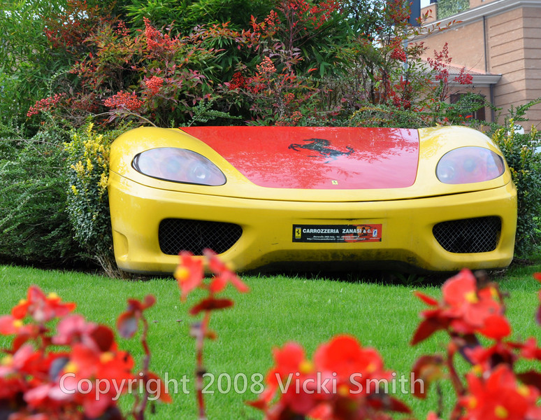 Yard planter. where else? Maranello, Italy