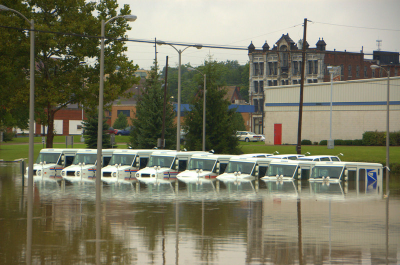 """The post office lost 20 vehicles at least.  They had to rethink the ages old """"neither rain nor sleet"""" policy as well..."""