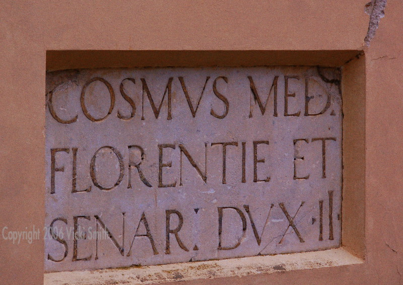 On the exterior wall of the church
