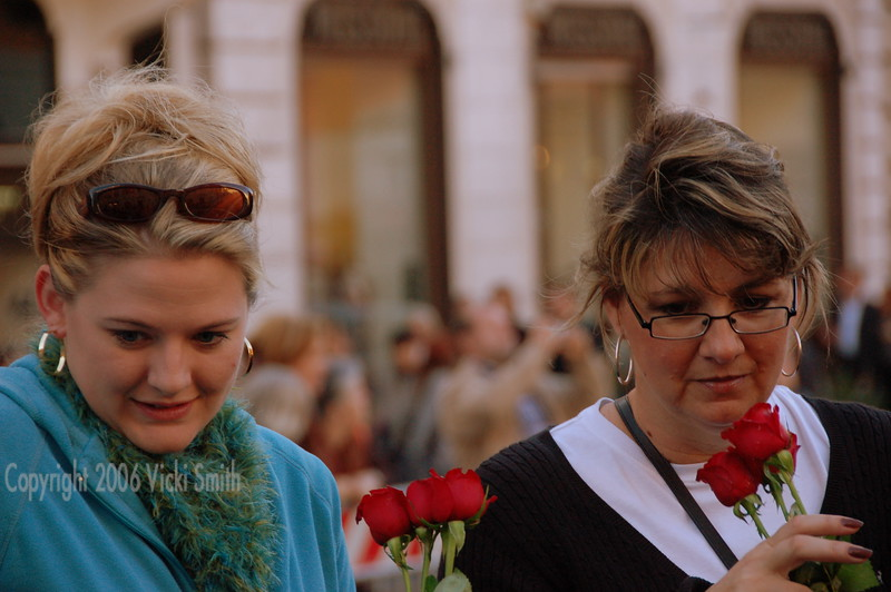 Kat and Rosie at the Spanish Steps