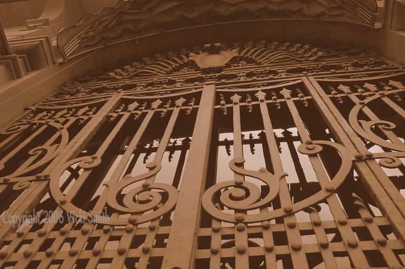 Gates on the Piazza Signoria