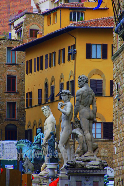 More Piazza Signoria.  It's incredible really and this is just one section of the statues there. These are on the left out my window, there is another whole row of them straight ahead. The history in this place is so real it's like stepping back in time